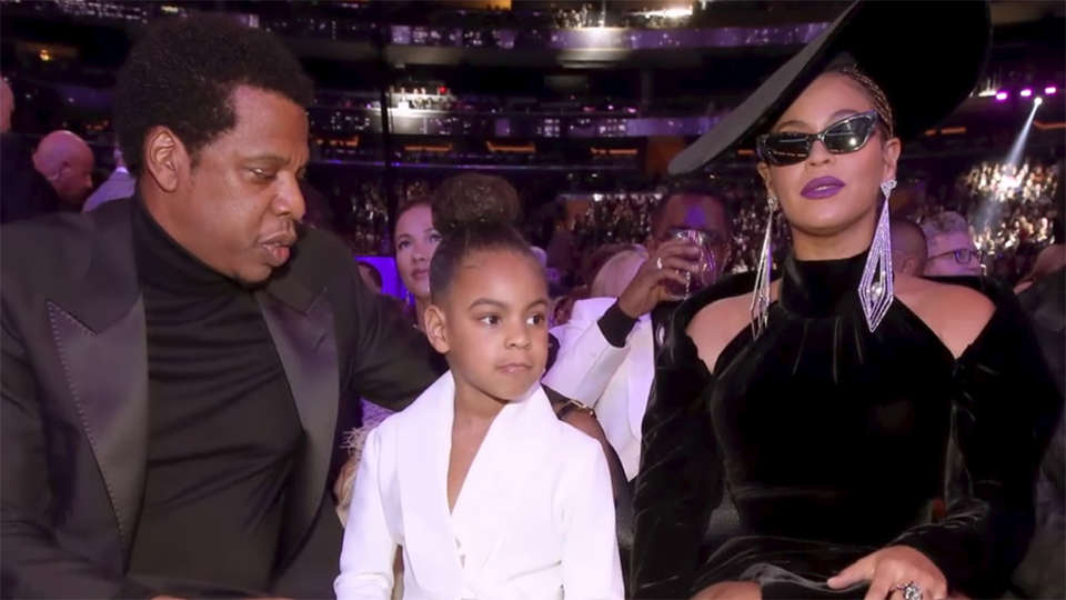 Fantastic Sassy Blue Ivy Hilariously Silences Her Parents At The Grammys Funny Birthday Cards Online Kookostrdamsfinfo