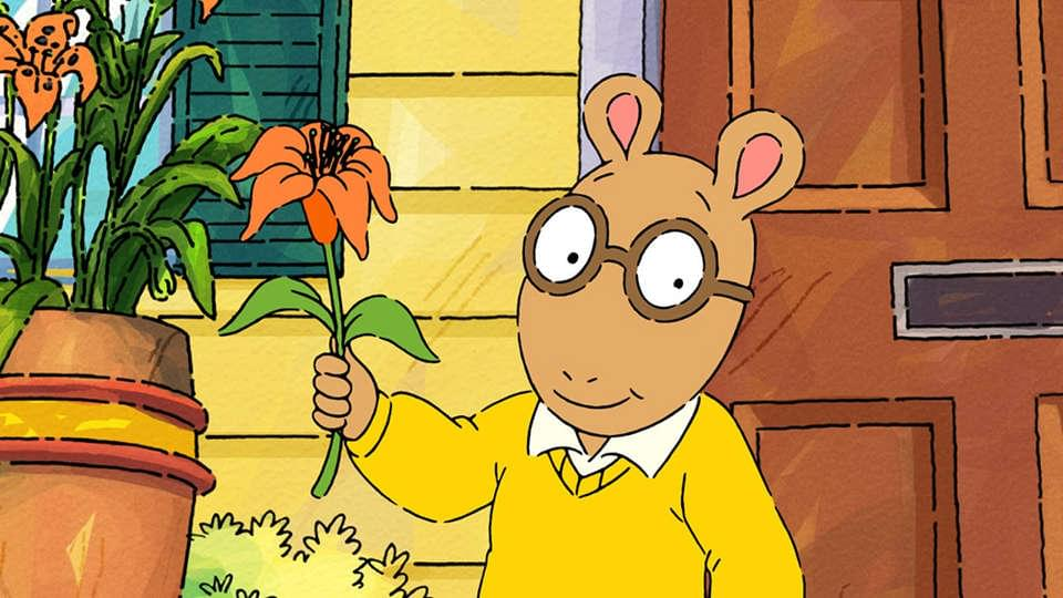 I say, HEY! This picture of Arthur all grown up is hands
